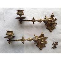 Подсвечники для пианино старинные 19 век бронза