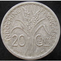 1к Фр. Индокитай 20 сантимов 1945 C (2-179) распродажа коллекции