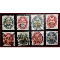 Рейх 1925-1929 Гербы, Mi 375-377(сет), 398, 399, 425, 427, 432