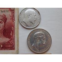 Германия 3 марки, Индия 1 рупия, Испания, Тринидад и Тобаго