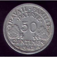 50 сантимов 1942 год Франция