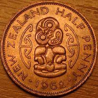 1/2 пенни 1962г. Хей Тики. Елизавета II.
