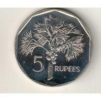 Сейшелы 5 рупия 2007