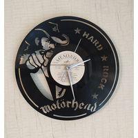 """Часы на виниловой пластинке """"Motorhead"""" 30см 35р"""