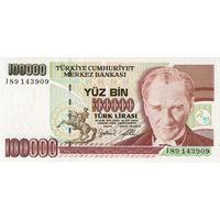 Турция, 100 000 лир, обр. 1970 г., UNC