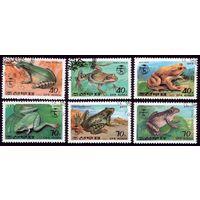 6 марок 1992 год КНДР Жабы 3340-3345
