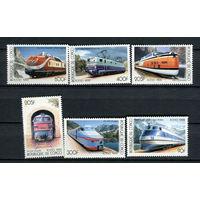 Конго - 1999 - Поезда - [Mi. 1684-1689] - полная серия - 6 марок. MNH.