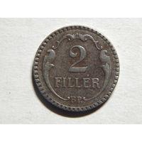Венгрия 2 филлера 1940г