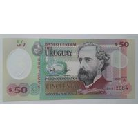 Уругвай 50 песо 2020 года UNC