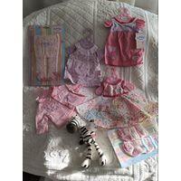 Набор одежды для кукол Беби Борн 43 см оригинальный(в комплекте 6 единиц одежды одним лотом), Zapf Creation(Германия).   Цена за 6 единиц+подарок