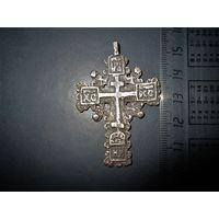 Старинный крест, серебро.Вес 8,95гр.