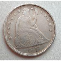 США. 1 доллар 1847 года. Копия