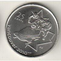 Канада 25 цент 2008 XXI зимние Олимпийские Игры, Ванкувер 2010 Бобслей
