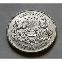2 лата, Латвия 1925 г.,  серебро 835