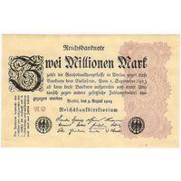 Германия 2 миллиона (2000000) марок 1923 год EF