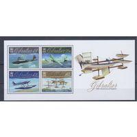 [1281] Гибралтар 2010. Авиация.Самолеты. БЛОК.