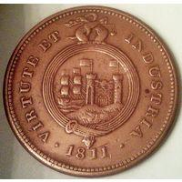 ВЕЛИКОБРИТАНИЯ БРИСТОЛЬ 1 пенни 1811 год
