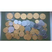 66 монет УКРАИНЫ без повторов. Список внутри.