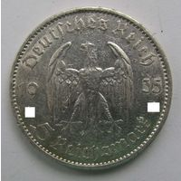 1935 г. 5 марок. A. Кирха. Германия. Рейх. Серебро.