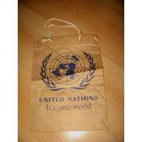 Пакет бумажный 10 год Прадстаўніцтв у ААН у Рэспубліцы Беларусь