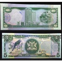 Банкноты мира. Тринидад и Тобаго, 5 долларов