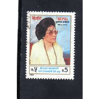Непал. Ми-491.Бриллиантовый Юбилей Ее Величества Королевы Матери Ratna.1988.