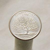 США 25 центов 1999 D Коннектикут