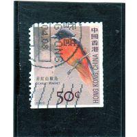 Китай. Гонконг. Ми-1389.Scarlet Minivet (Pericrocotus flammeus). Серия: Птицы. 2006.