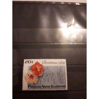 Марка Папуа - Новой Гвинеи - Рождество 1989 г.