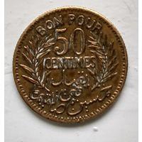 Тунис 50 сантимов, 1921  3-4-11