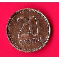 18-29 Литва, 20 центов 1991 г.
