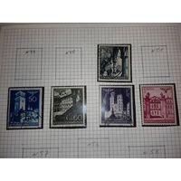 Рейх. Генерал губернаторство. Польша, здания и архитектура. Полная серия 10 марок + 1 повтор.