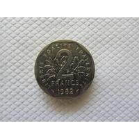 2 франка 1982 Франция KM # 942.1 1 франк никель