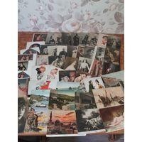 Большой лот почтовых карточек и открыток царского периода 48шт одним лотом ОРИГИНАЛ