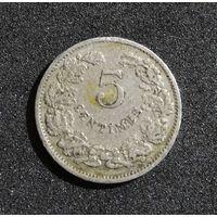 Люксембург 5 сантимов, 1908
