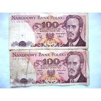 100 злотых 1988 г.