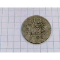 Германия Пруссия 1/12 талера таллера 1768