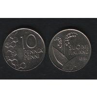 Финляндия km65 10 пенни 1991 год (M) (f35)
