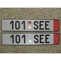 Автомобильный номер Чехия 101SEE