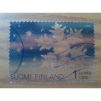 Финляндия 2008 Новый год, прозрачная марка