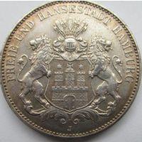3 марки 1914 J Гамбург с блеском