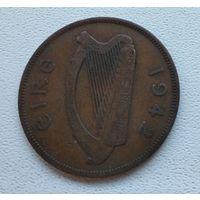 Ирландия 1 пенни, 1942 6-7-13