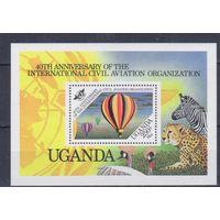 [15] Уганда 1984.Авиация.Воздушный шар.  БЛОК.