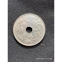 L003 25 сантимов Бельгия 1921