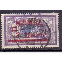 Мемель (Клайпеда) 2-й вспом. выпуск 3 м/60 с ГАШ 1921 г