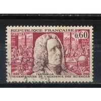 Франция 1966 300 лет Академии Наук Б. де Фонтенель #1487