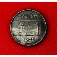 49-18 Индия, 1 рупия 2005 г. (м. д. - Хайдарабад) Единственное предложение монеты данного года на АУ