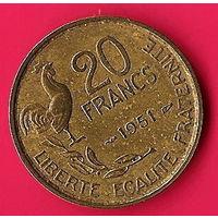 42-04 Франция, 20 франков 1951 г.