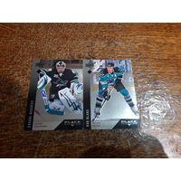 2 хоккейные карточки легендарных игроков Сан-Хосе Шаркс.НХЛ