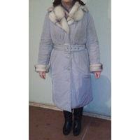 Зимнее (очень теплое) пальто плащевое Electrastyle, Россия, р-р 54-56